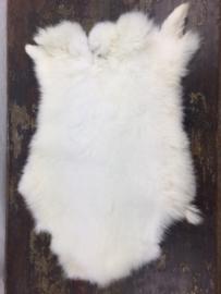 Konijnen bontje velletje wit