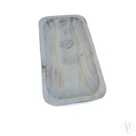 Houten grey wash schaaltje