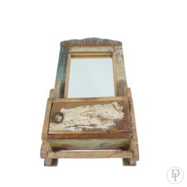 spiegel kastje van scrapwood