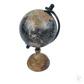 Wereldbol Vintage op houten voet