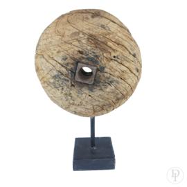 Houten wiel op standaard (half wiel)