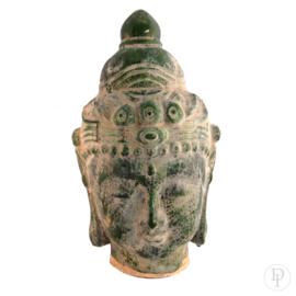 Aardewerk Groen Boeddha hoofd