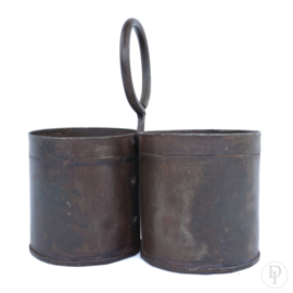 Metalen bakjes met ring uit India