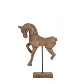 Houten paard light & living 47 cm hoog