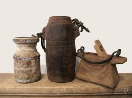 Oliepot hout met stoer touw