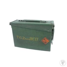 Leger box/ kist munitie van metaal