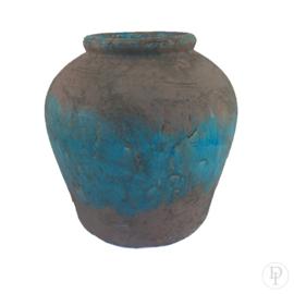 Grote bolle aardewerk kruik
