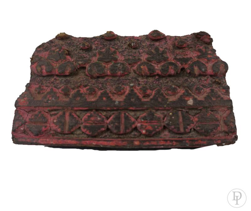 Mooie Houten Stempels.Oude Houten Stempel Met Rode Verf Resten Alle Artikelen