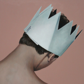 'Boy with paper crown' - P. Colstee