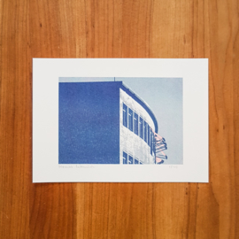 'Gebouwen II' - set riso prints - Harriet Wansink