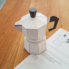 Bouwplaat 'Koffiepotje' - Studio Przewalski