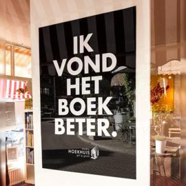 'Ik vond het boek beter' - poster