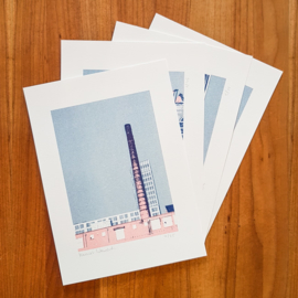 'Gebouwen II' - set riso prints - Harriet Wansink