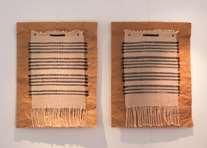 'Woven sonnets  on paper' - Peter Maria R