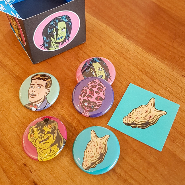 Harmless Fun Buttons - Charles Burns
