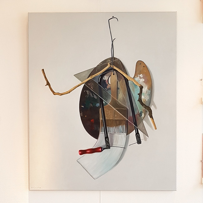 'Stilleven met palet en zaag' - Peter Colstee