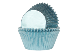 House of Marie Baking Cups Folie Baby Blauw pk/24 [HM4365]