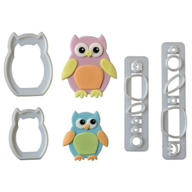 FMM - Mummy & Baby Owl Cutter Set/4