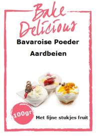 Bake Delicious - Bavaroise Poeder Aardbeien 100gr