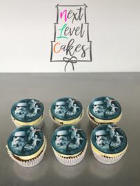 Cupcakes - 6 stuks - met eetbare foto
