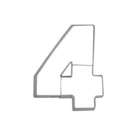 Koekjesuitsteker: Städter Koekjes uitsteker Cijfer -4- 6,5cm