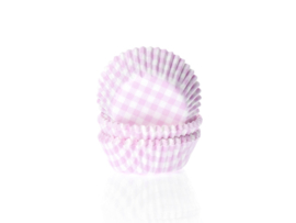 House of Marie Mini Baking cups Ruit Roze - pk/60 [HM0565]