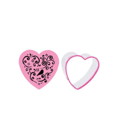 Blossom Sugar Art Heart (pretty swirls) Cookie Cutter & Swirls Stamp