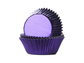 House of Marie Baking Cups Folie Paars - pk/36 [HM1326]
