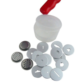 Disc set voor Sugarcraft Gun (16 discs) [OV404-DI16]