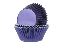 House of Marie Baking Cups Folie Navy Blauw pk/24 [HM4358]