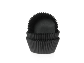 House of Marie Mini Baking Cups Zwart pk/60 [HM0534]