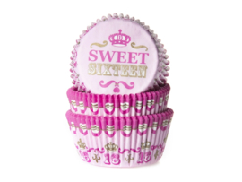 House of Marie Baking Cups Sweet Sixteen pk/50 [HM1586
