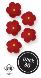 PME - Medium Red Blossoms (30/PK)