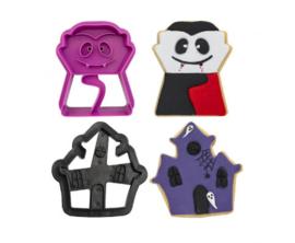 Decora - Koekjes Uitsteker Set 2 Spookhuis en Vampier Halloween