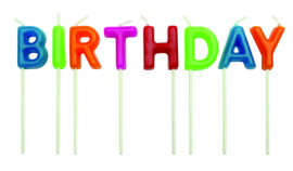 PME  Candles - Happy Birthday