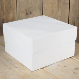 FunCakes Taartdoos - Wit - 20,3x20,3x15cm- pk/1