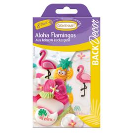 Günthart Suikerdecoratie Aloha Flamingo 8st.