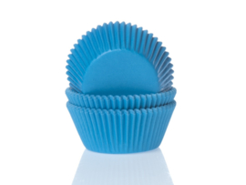 House of Marie Baking cups Cyaan blauw - pk/50 [HM0084]