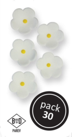 PME - Medium White Blossoms (30/PK)