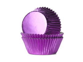 House of Marie Baking Cups Folie Roze - pk/24 [1302] [HM2033]