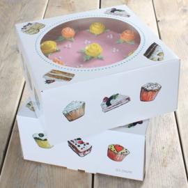 Funcakes Taartdoos -Cakes 26x26x12cm- PK/2