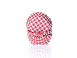 House of Marie Baking Cups Ruit Rood Small (voor cupcakemaker) pk/50 [HM1647]