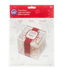 Wilton Plastic Gift Box Holiday Sweet Swap pk/3