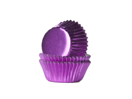 House of Marie Mini Baking Cups Folie Roze pk/50 [HM1364]