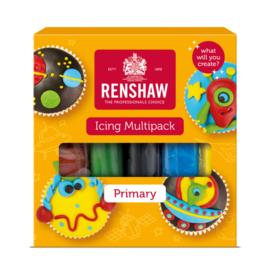 Renshaw Fondant multi pack - primaire kleuren - 5x100gr
