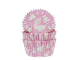 House of Marie Baking Cups Newborn pink pk/50 [HM5126]