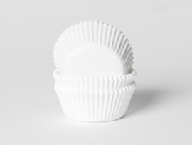House of Marie Baking Cups Wit Small pk/50 [HM0008] (geschikt voor cupcakemaker)