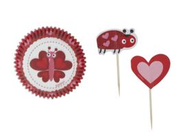 Wilton Cupcake Combo Pack Love Bugs pk/24 [415-1725]