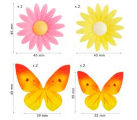 Dekora - Ouwel Bloemen & Vlinders (8 ST)