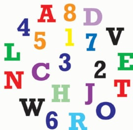 FMM Alphabet & Numbers tappits Upper Case